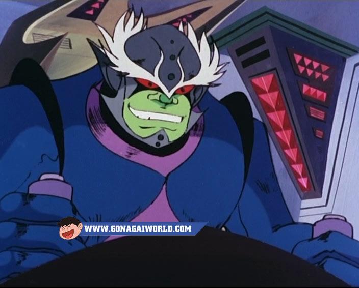 Il Capitano Beetle ai comandi del Mostro Spaziale Bun Bun, nell'episodio 35 di UFO Robot Goldrake. Character design di Shingo Araki.