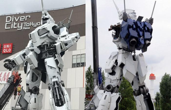 Nuovo aggiornamento fotografico per la statua in scala 1:1 del Gundam Unicorn a Tokyo