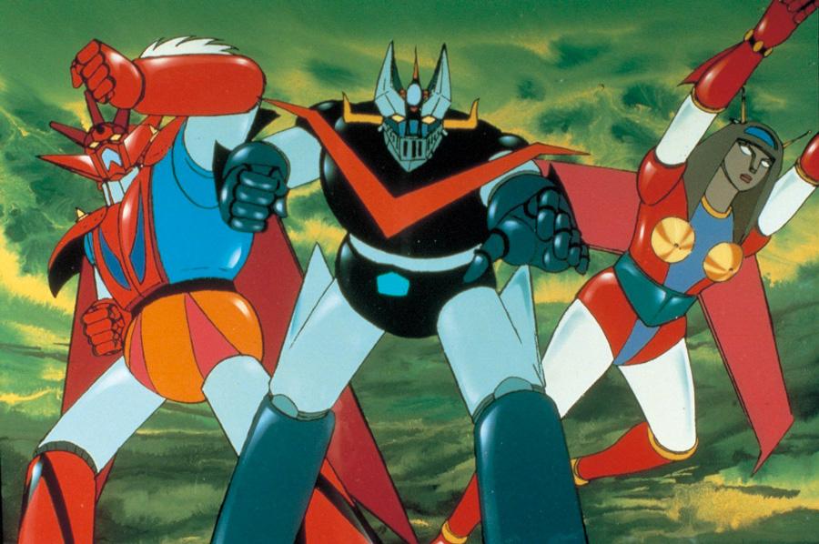 Anime getter robo getta robot space robot di tomoharu
