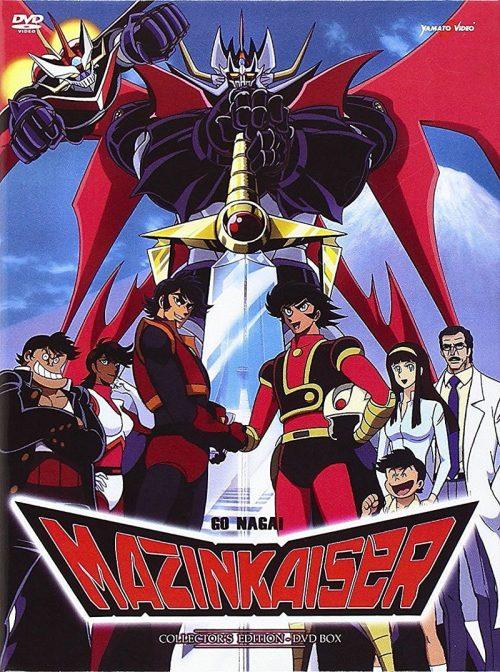 La copertina del cofanetto collector's edition di Mazinkaiser, edito da Yamato Video nel 2013 e ora fuori catalogo.