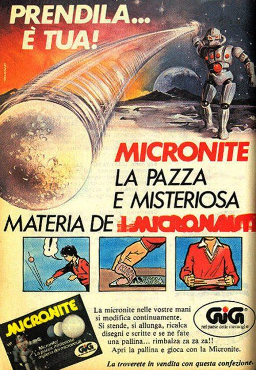 La Micronite, la pazza e misteriosa materia de I Micronauti.