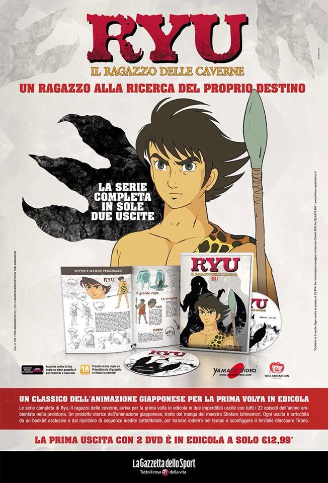 Ryu il ragazzo delle caverne la serie animata è in