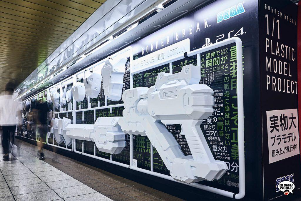 Border Break: il model kit 1:1 sotto la metropolitana di Tokyo.