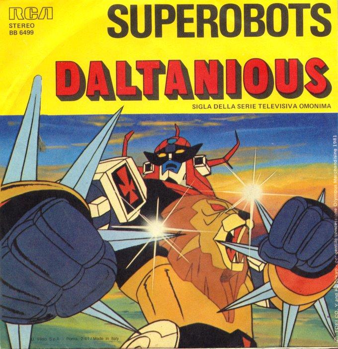 Daltanious, la sigla TV.