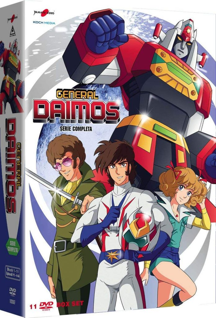 General Daimos, la serie completa in un box DVD.