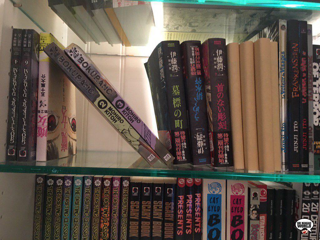 Guillermo del Toro: la collezione di manga e libri.