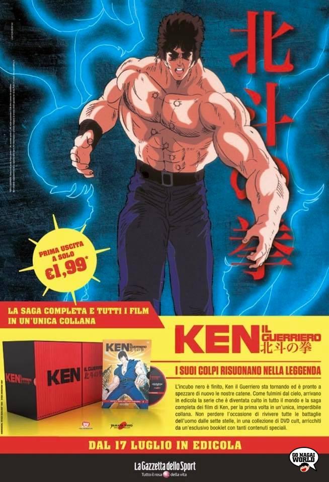 Ken il guerriero in DVD con La Gazzetta dello Sport.