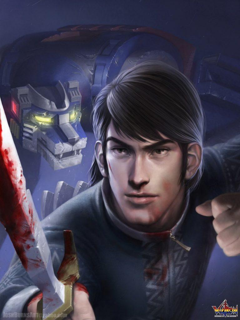 Voltron, i personaggi illustrati da Josh Burns.
