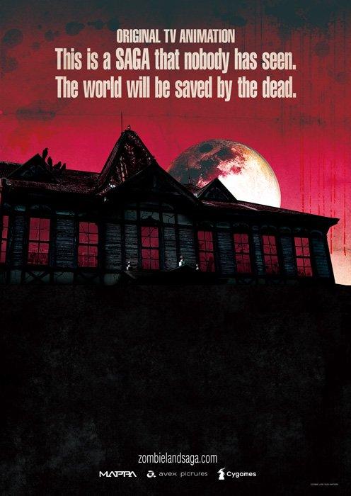 Zombie Land Saga, il poster.