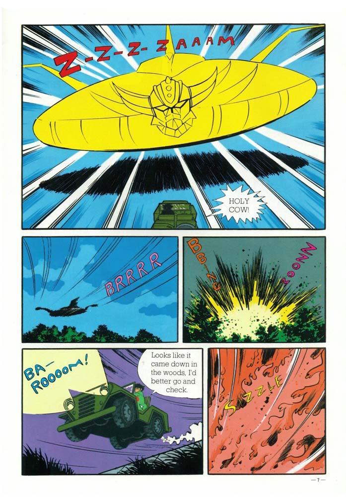 UFO Robot Gren-Dizer: le tavole del fumetto.