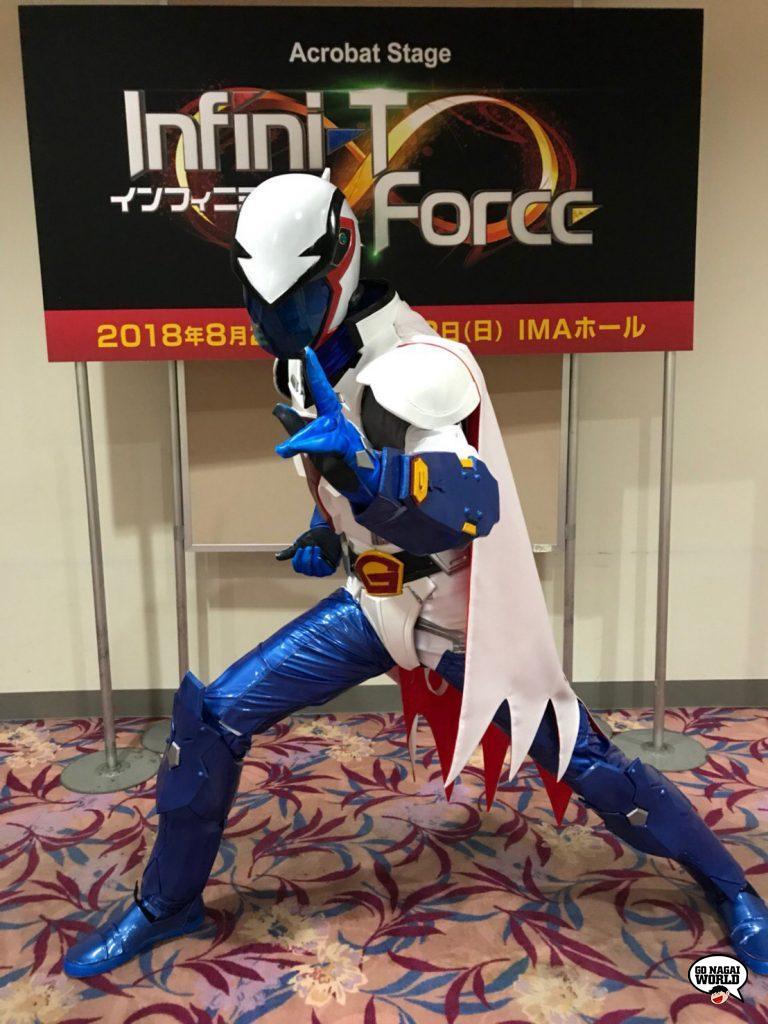Infini-T Force Acrobat Stage: Yoshihiko Lida nei panni di Ken l'aquila (Gatchaman).