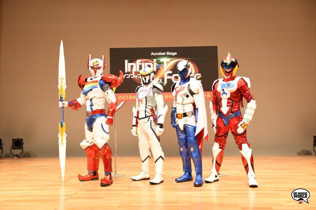 Infini-T Force Acrobat Stage: gli stunt che vestono i panni dei quattro eroi Tatsunoko.