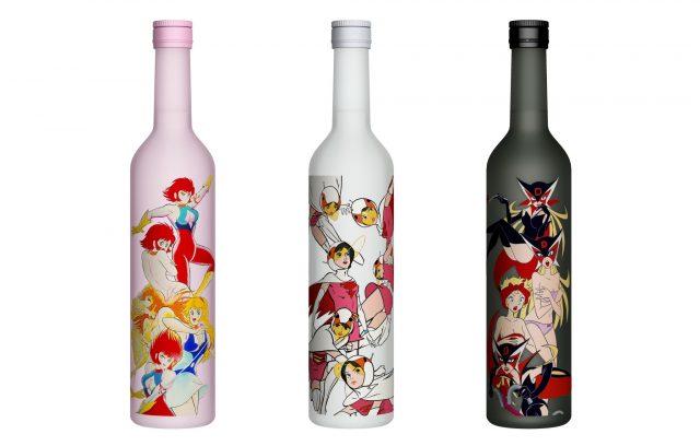 Sake aromatizzato con le eroine degli anime anni Settanta.