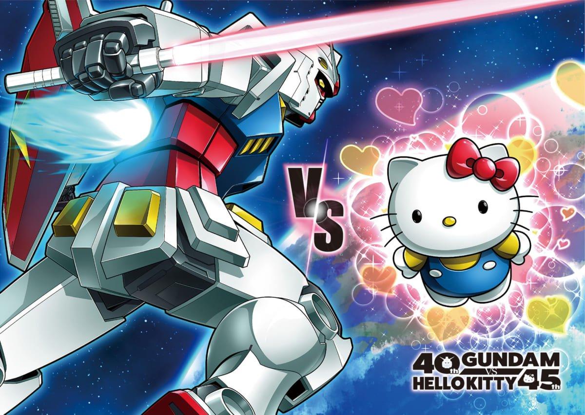 Gundam vs. hello kitty: il progetto debutta con un sorprendente