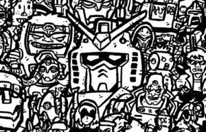 """Domo Arigato: 100 eroi """"meccanici"""" di cinema, fumetti, anime e videogiochi, in un'unica immagine"""