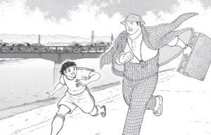 Il creatore di Captain Tsubasa celebra i cinquant'anni della serie di Tora-san con uno sketch originale