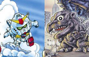 Gundam, Godzilla e Ultraman in versione chibi nell'artbook di Kouji Yokoi