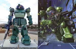 Inaugurata a Inagi la statua a grandezza reale dell'ATM-09-ST Scopedog della serie Votoms