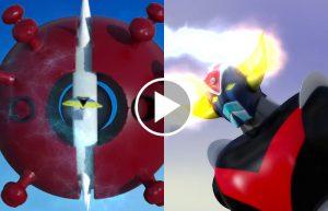 UFO Robot Goldrake contro Covid-19: il film in 3D di Piero Celli che combatte il coronavirus